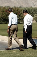 Xi Jinping & Barack Obama at Rancho Mirage.