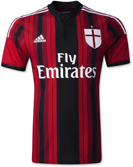 Jersey Bola Terbaru Ac Milan Home Warna Merah Grade Original Thailand Berkualitas 2014 - 2015