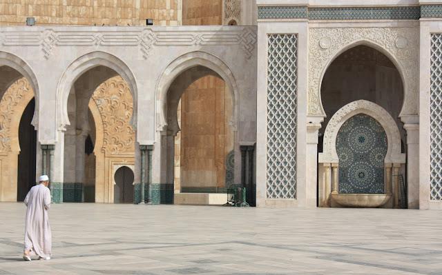 Casablanca, Marruecos, Gran Mezquita, Hassan II, blog de viajes, fuentes