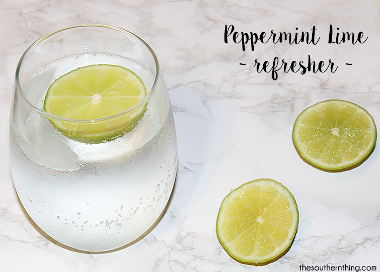 peppermint lime refresher drink recipe