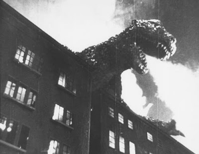 Godzilla's atomic breath in Gojira