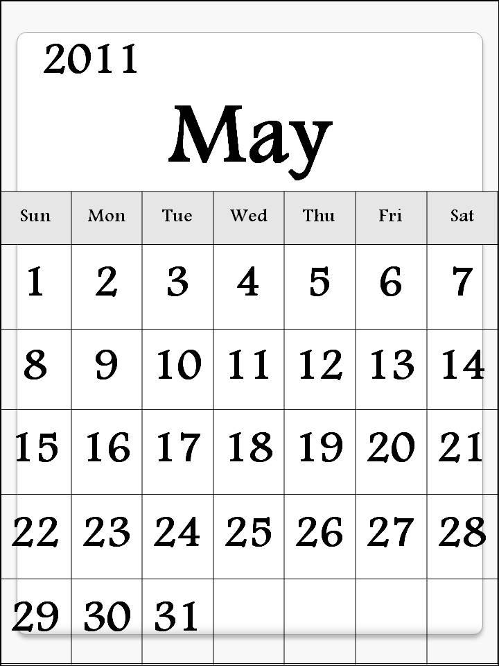 may 2011 printable calendar. 2011 may calendar printable.