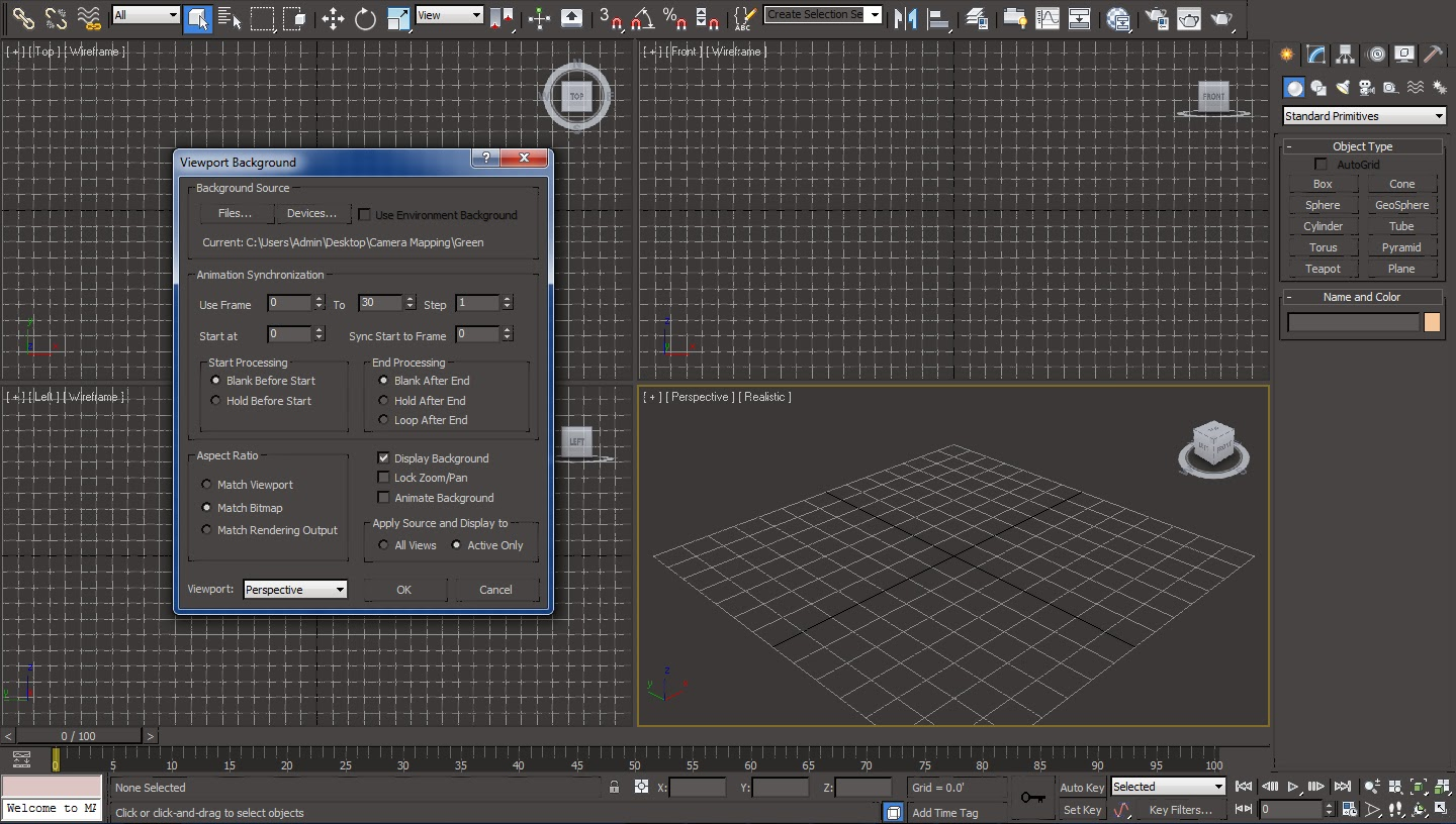 Background image 3ds max viewport -  Dialogue Box By Hitting F10 On The Keyboard And Change The Output Size Width And Height According To The Width And Height Of The Background