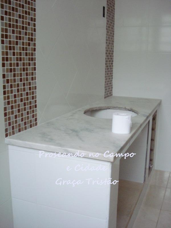 Reforma do Banheiro  Arte e Mimos -> Banheiro Reformado Com Pastilha
