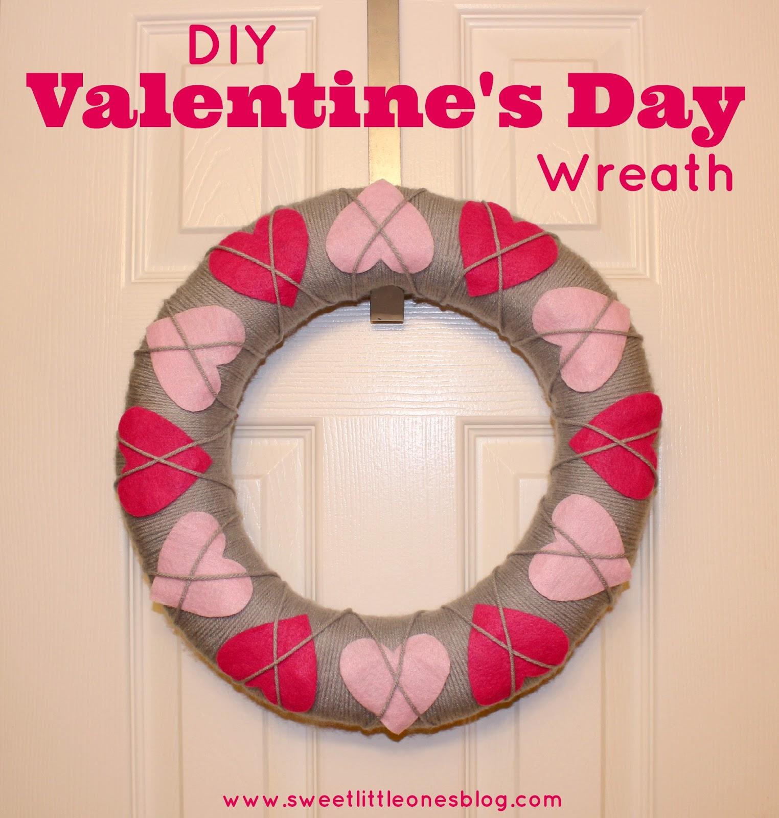 Easy DIY Valentine's Wreath - www.sweetlittleonesblog.com