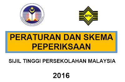 Peraturan Dan Skema Peperiksaan STPM 2016