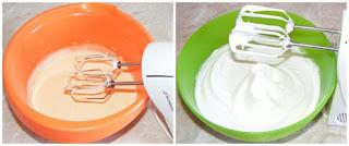 compozitie prajitura de casa cu afine, albusuri batute cu zahar bezea, galbenusuri batute cu zahar crema, retete culinare, cum se face compozitia de prajitura cu afine, compozitie pandispan preparare, blat de prajitura preparare,