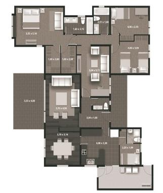 Planos de casas modelos y dise os de casas planos gratis for Casa minimalista 4 dormitorios