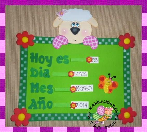 Calendario infantil de foamy - Imagui
