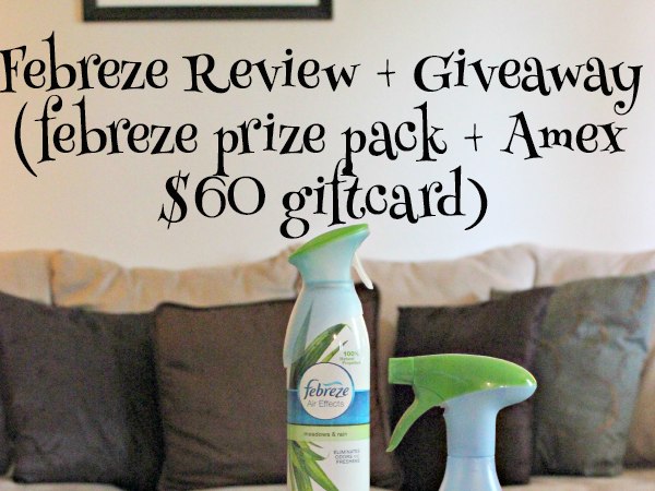 Febreze #noseblind review + giveaway with $60 AMEX