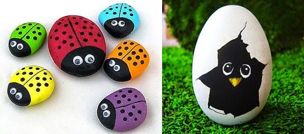 Acomp ame como pintar y decorar piedras for Pintura para pintar piedras