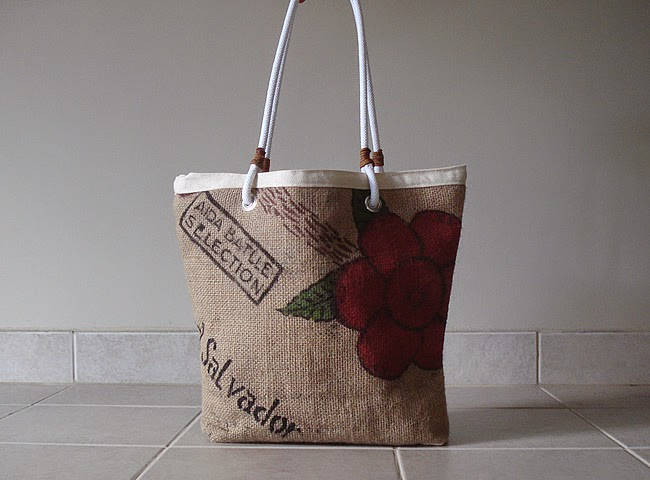 Allegro Burlap Beach bag - linaanvi.blogspot.com