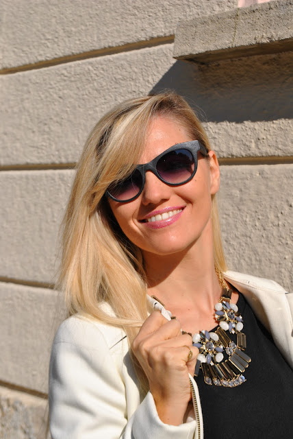 mariafelicia magno fashion blogger color block by felym fashion blogger italiane fashion bloggers italy fashion blog italiani blogger italiane blog di moda italiani blogger di moda italiane blogger bionde ragazze bionde blondie blonde hair blonde girls fashion bloggers italy italia independent sunglasses cookbook street style influencer italiane  collana majique majique london necklace oceanic jewelers come abbianre una maxi collana abbinamenti maxi collana