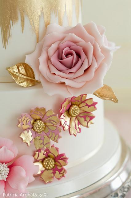 tartas de boda con flores de azúcar
