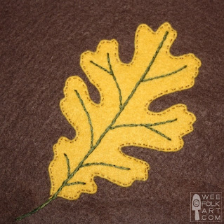 Falling leaves, free foundation piecing pattern for aspen leaves, at