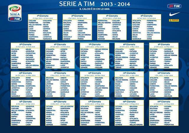 WALLPAPER JADWAL LENGKAP LIGA ITALIA SERIE A 2013-2014