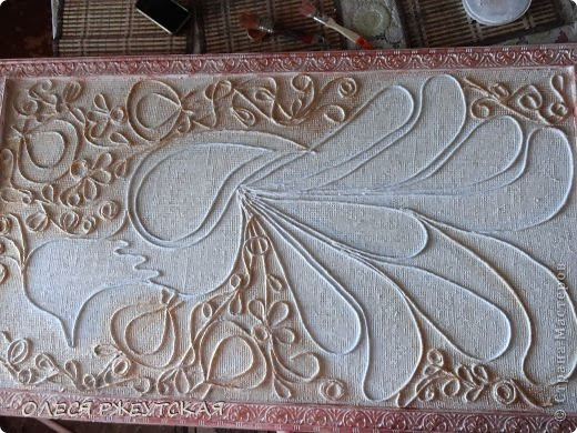 """""""BIRD OF HAPPINESS""""-Painting from natural materials."""
