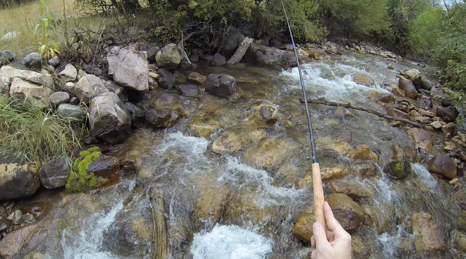 Teton tenkara rain and lightning but i had to go fishing for Small creek fishing