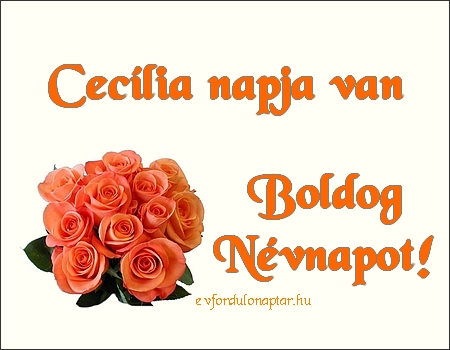 November 22 - Cecília névnap