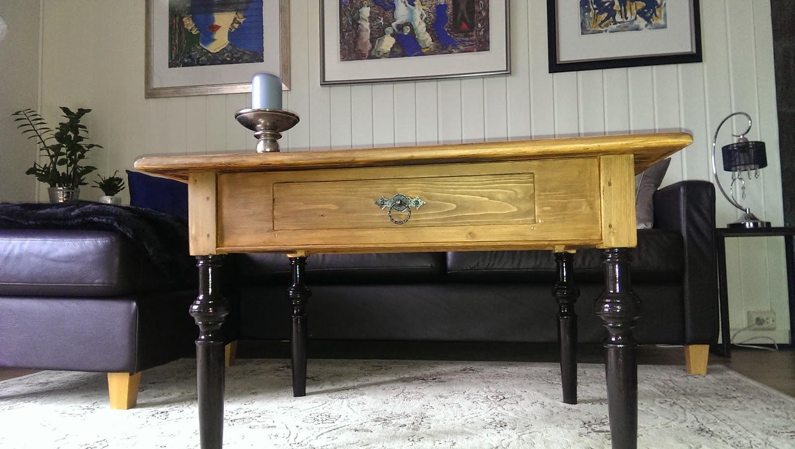 HverdagsRo : Antikk kj?kkenbord ble til et lite stuebord