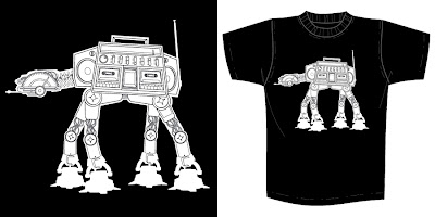 "Star Wars x Super7 T-Shirt Collection Series 1 - ""AT-AT Boombox"" by Brian Flynn"
