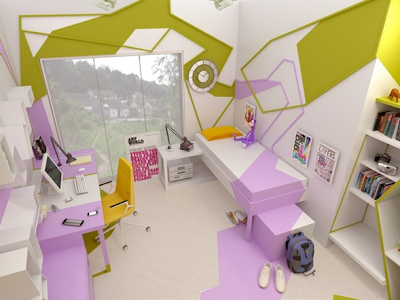 diseño dormitorio adolescente
