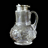 EAPG Syrup Pitcher, Chrysanthemum, Double Daisy
