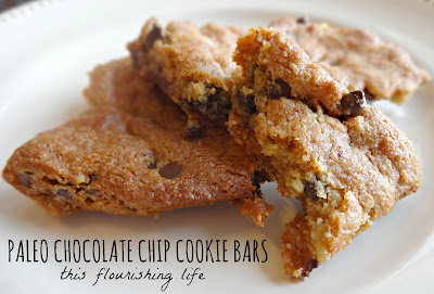 Paleo Chocolate Chip Cookie Bars
