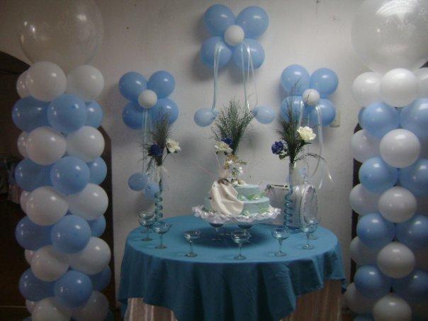 Eventos para tu beb precios decoracion con globos - Como decorar un salon para bautizo ...