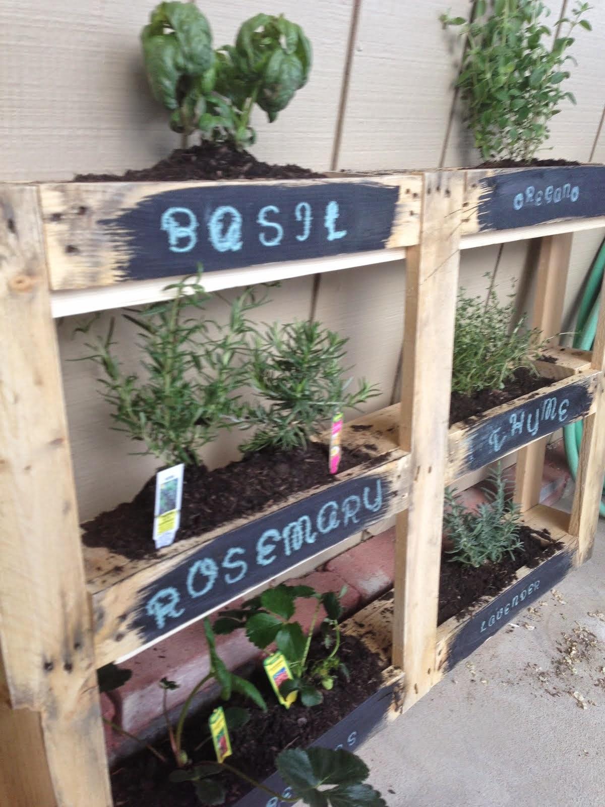 Mothering With Creativity Diy Herb Pallet Garden