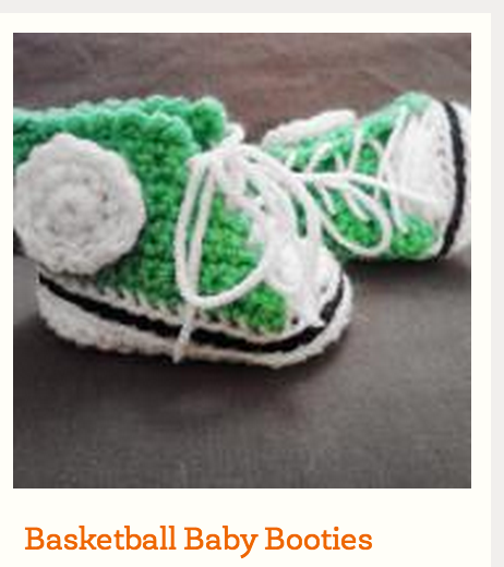image Free printable pattern Basketball  booties