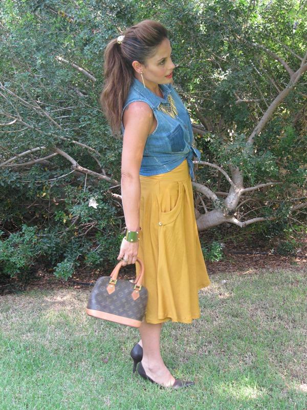 בלוג אופנה Vered'Style צבע חרדל - למה לא?