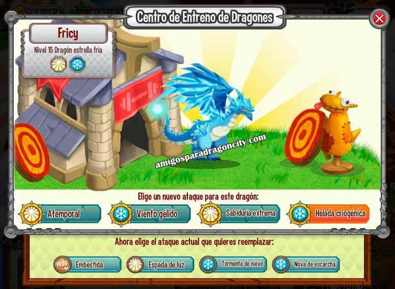 imagen de los ataques del dragon estrella fria