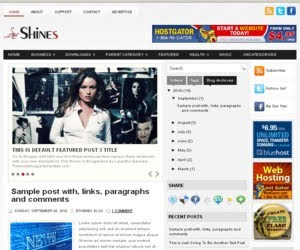 Shines Blogger Template