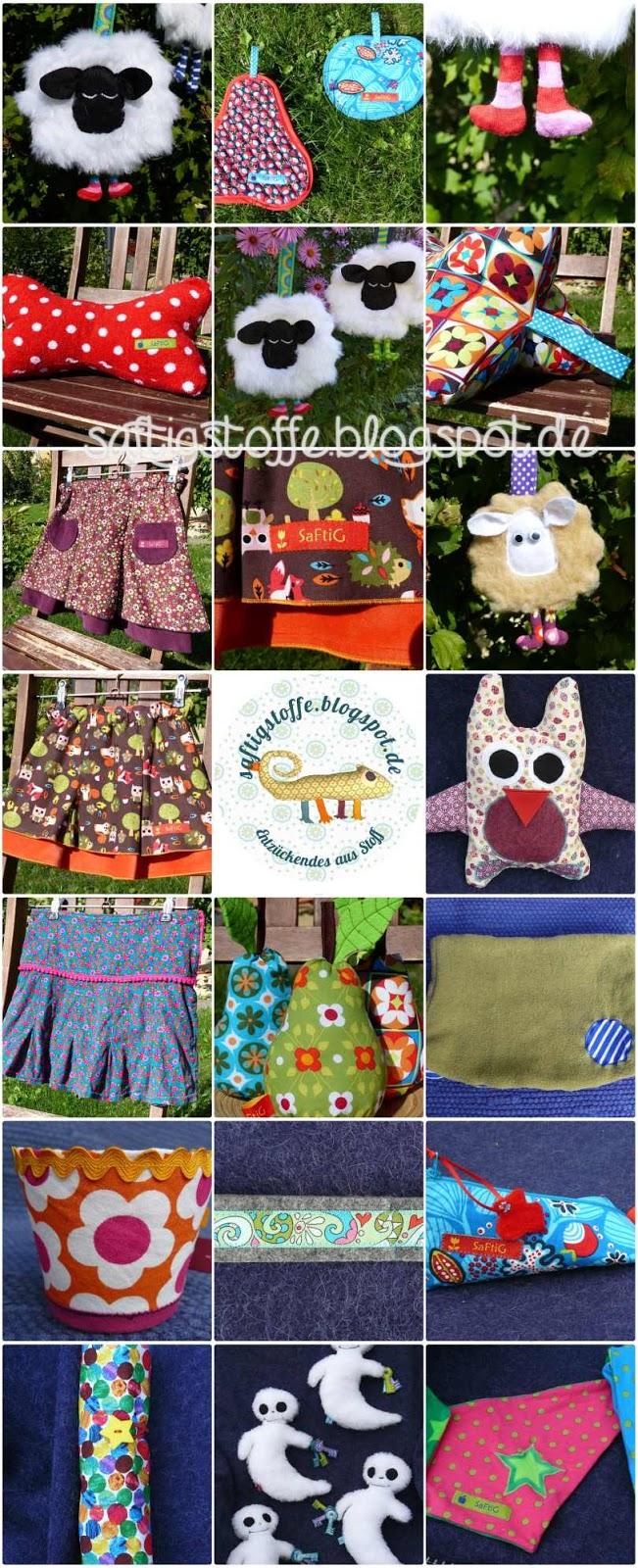 Herbstdeko, Schäfchen, Kissen und Kinderbekleidung aus Stoff