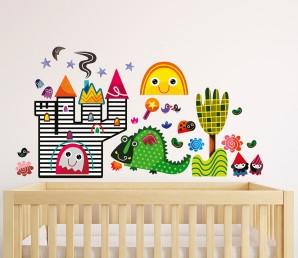 Win Witty Doodle Nursery Wall Stickers