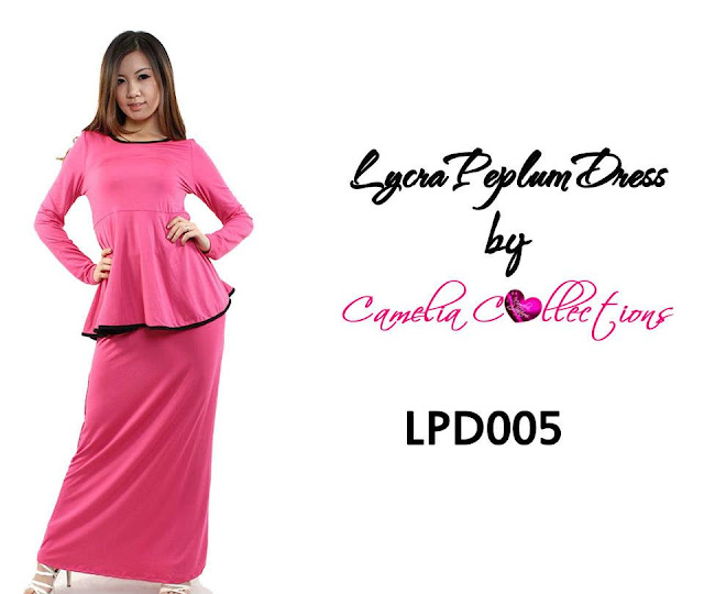 lycra peplum dress pink