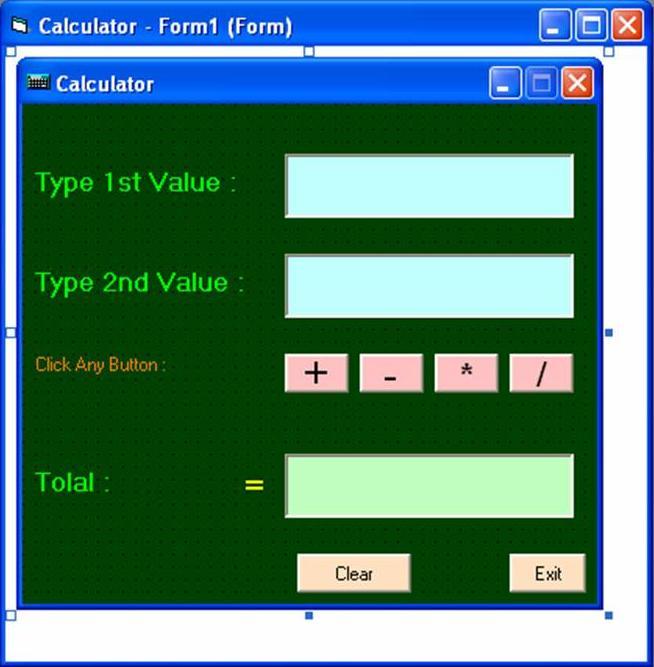 Vb6 calculator project download