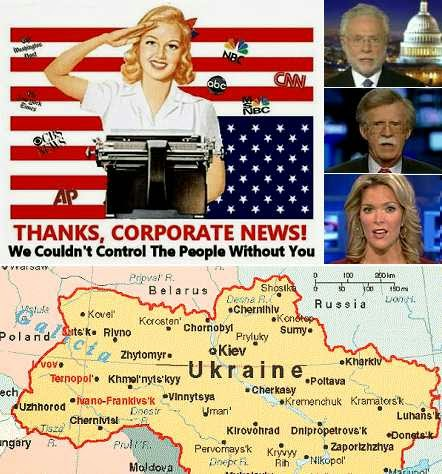 corporate media propaganda about the crisis in Ukraine