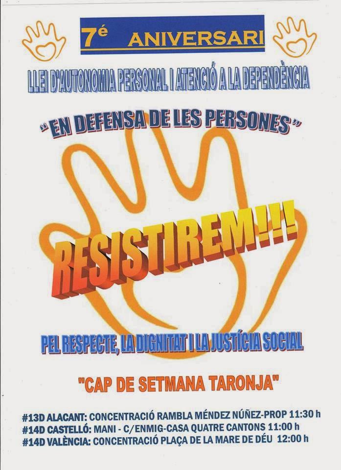 7º ANIVERSARIO DE LA LEY: Concentración Plaza la Virgen a las 12 horas