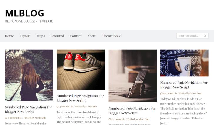 MLBLOG - Responsive Blogger Template
