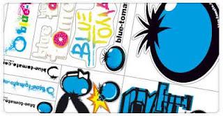 stickers Blue Tomato