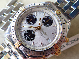 BREITLING CHRONOGRAPH WHITE SILVER TEXTURE DIAL - AUTOMATIC