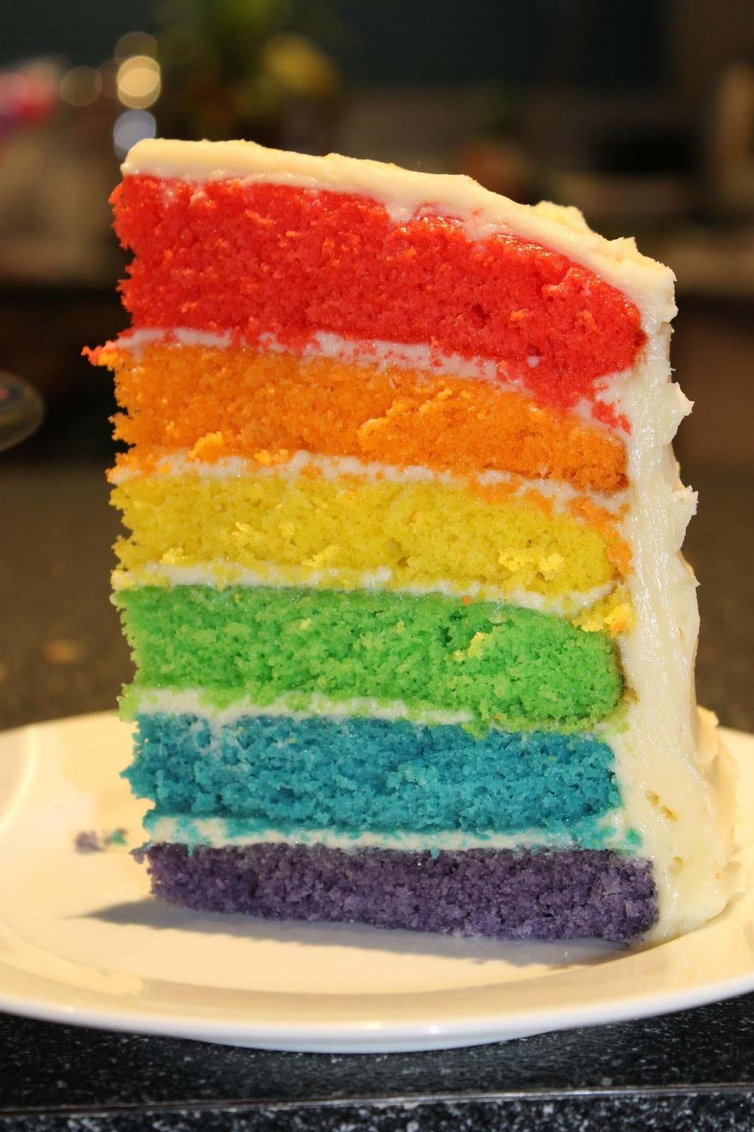 Sweetie Darling A Lovely Rainbow Cake And White Chocolate Cream
