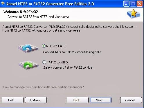 Cara Mengubah File Sistem NTFS Menjadi FAT32 - Desert Tekno - Simple and useful technology blog