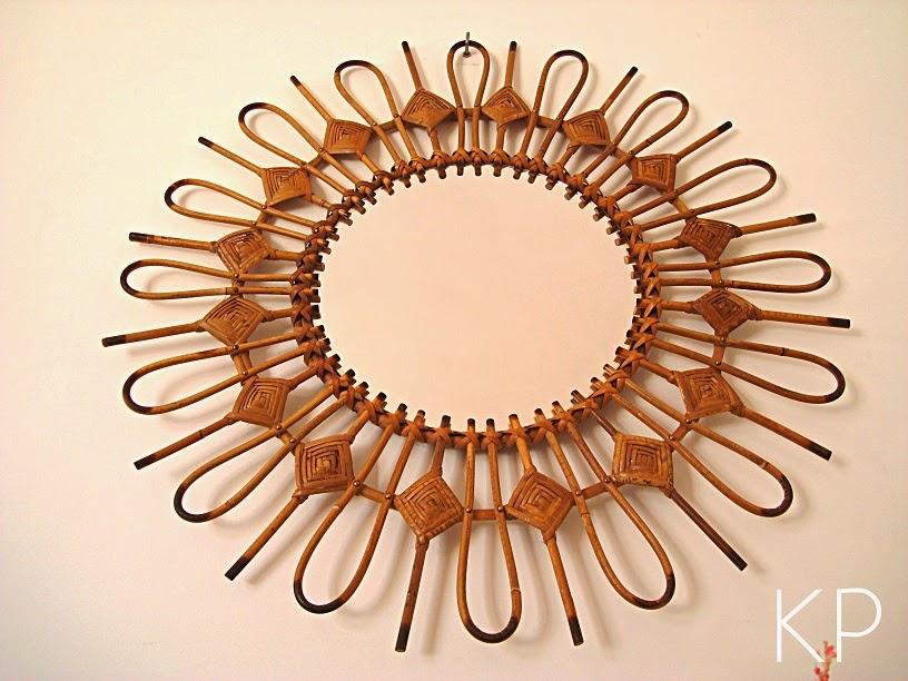 Comprar espejo de caña de bambú antiguo fabricado de forma artesanal