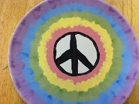 tie dye pottery painting