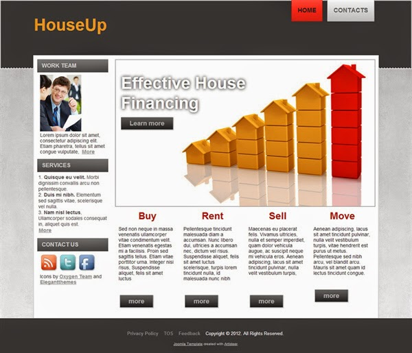 HouseUp - Free Joomla! Template