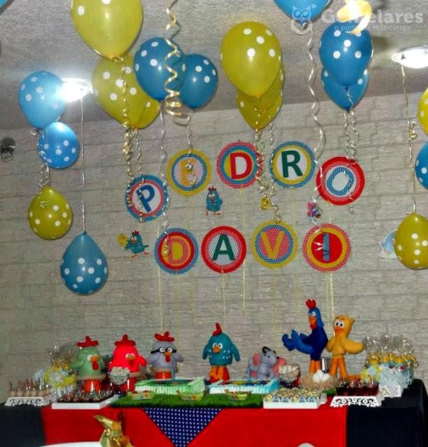 Festa Galinha Pintadinha Feita em Casa