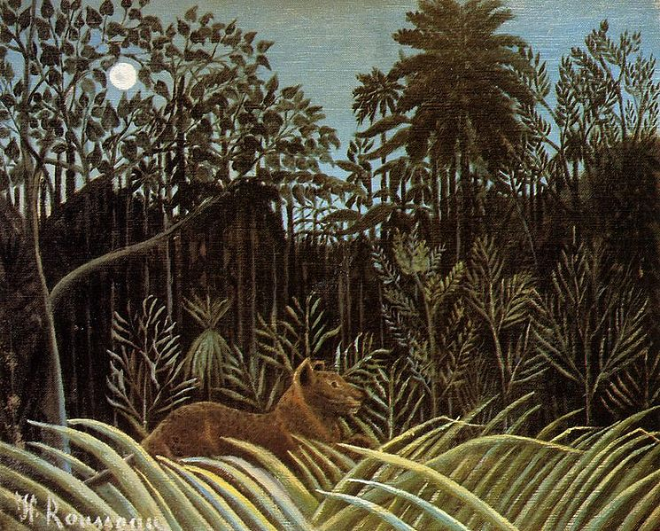 henri rousseau jungle lion